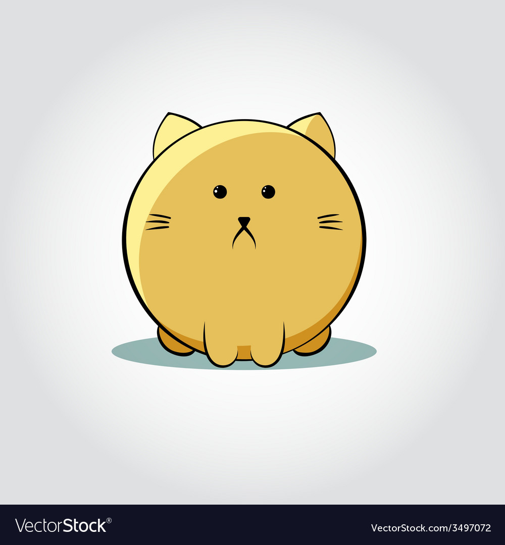 Thick cat face - vector | Price: 1 Credit (USD $1)