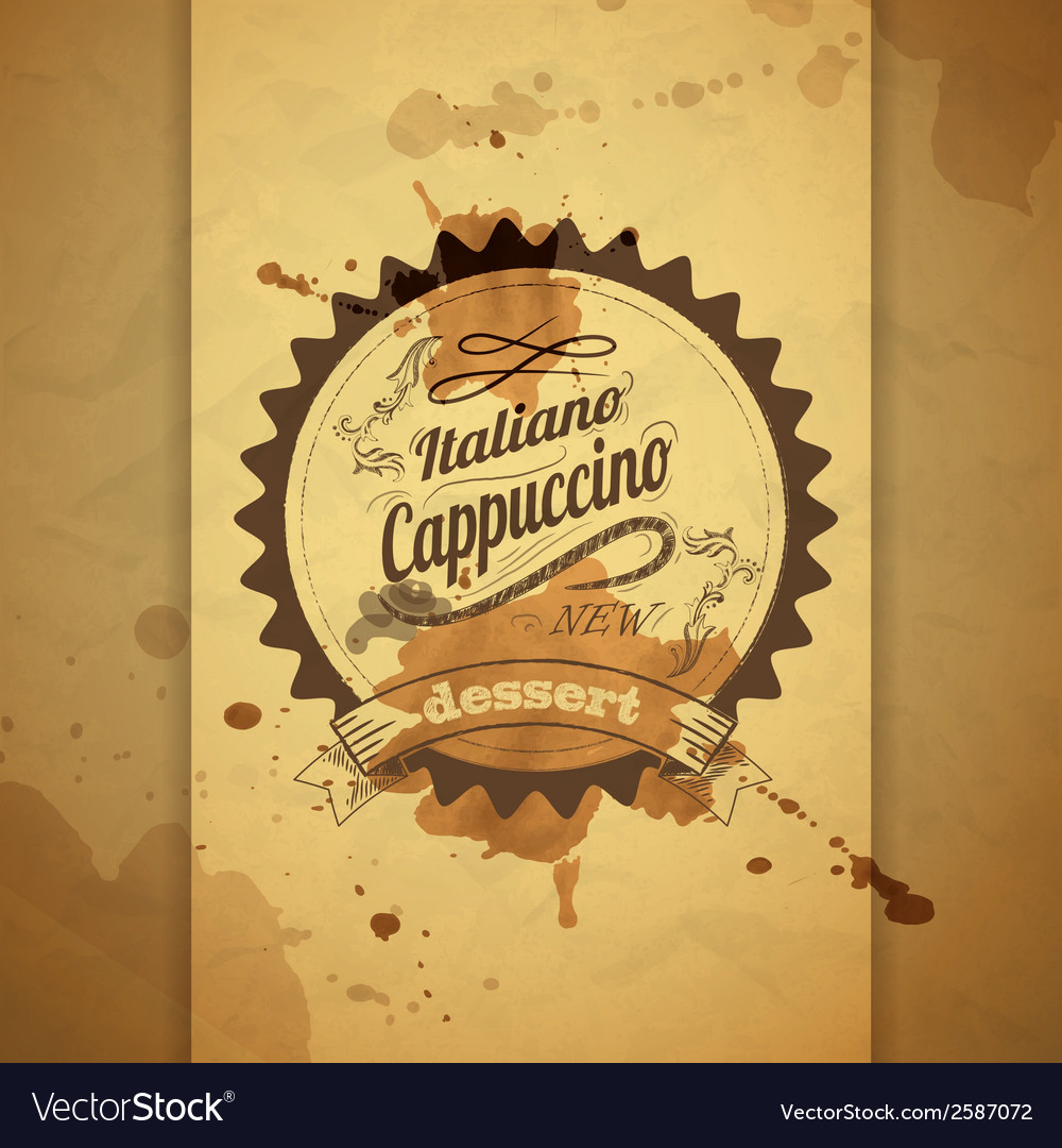 Vintage coffee typography background vector | Price: 1 Credit (USD $1)