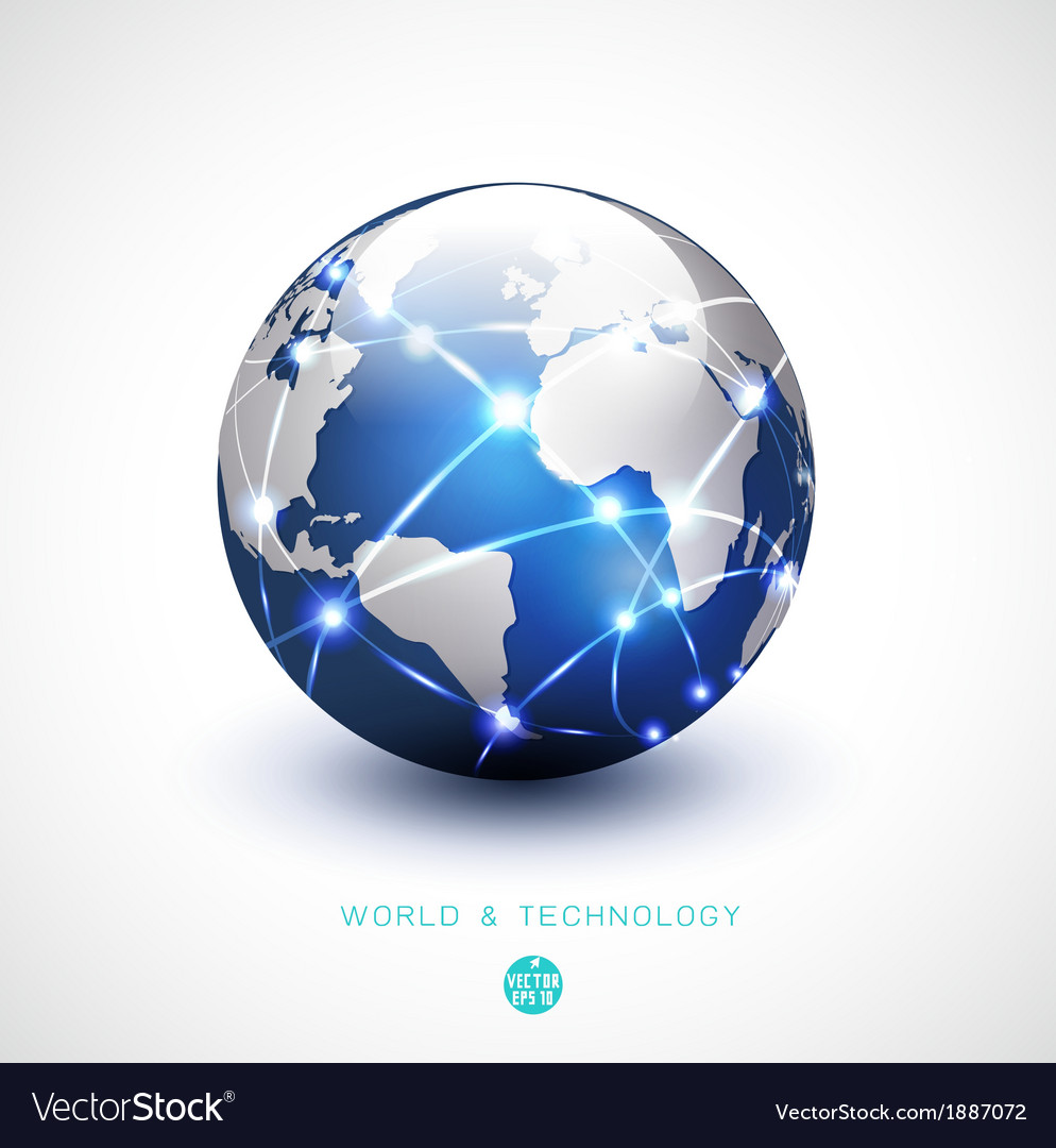 World network communication and technology vector | Price: 1 Credit (USD $1)