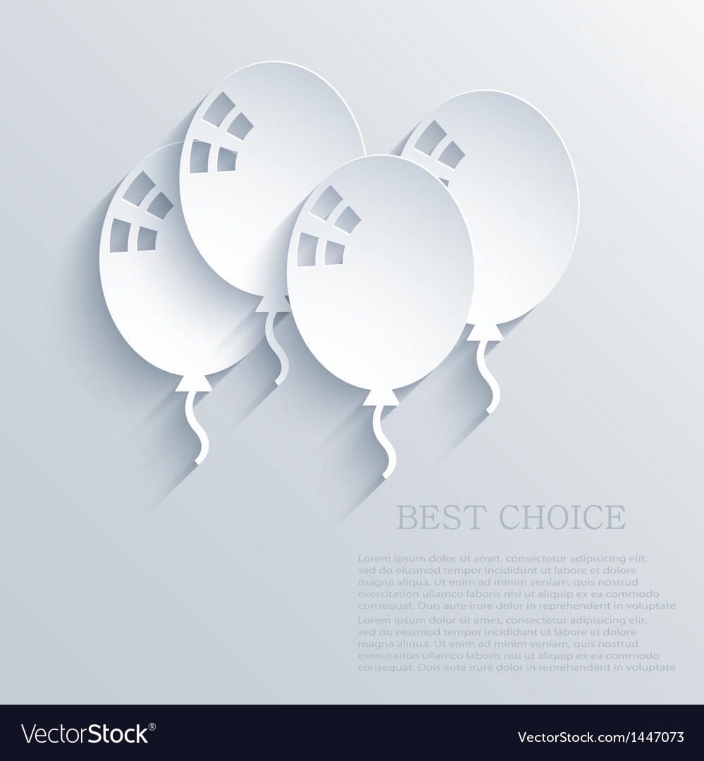 Ballons background eps10 vector | Price: 1 Credit (USD $1)
