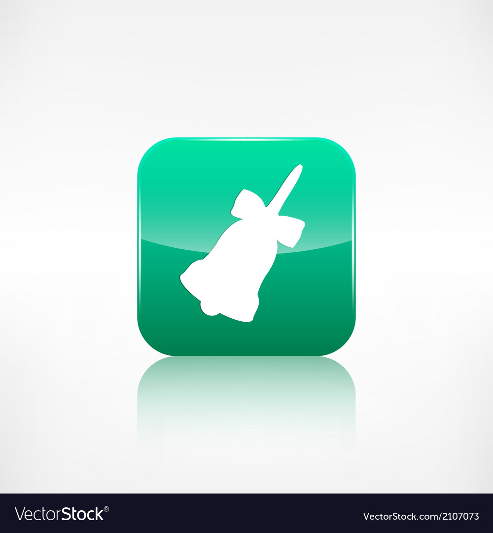 Christmas bell icon vector | Price: 1 Credit (USD $1)