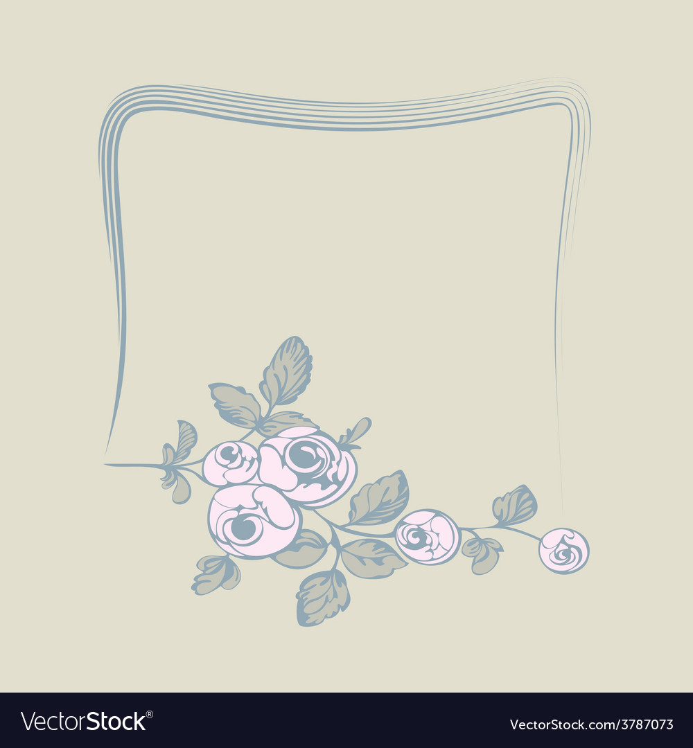 Frame flower rose vector | Price: 1 Credit (USD $1)