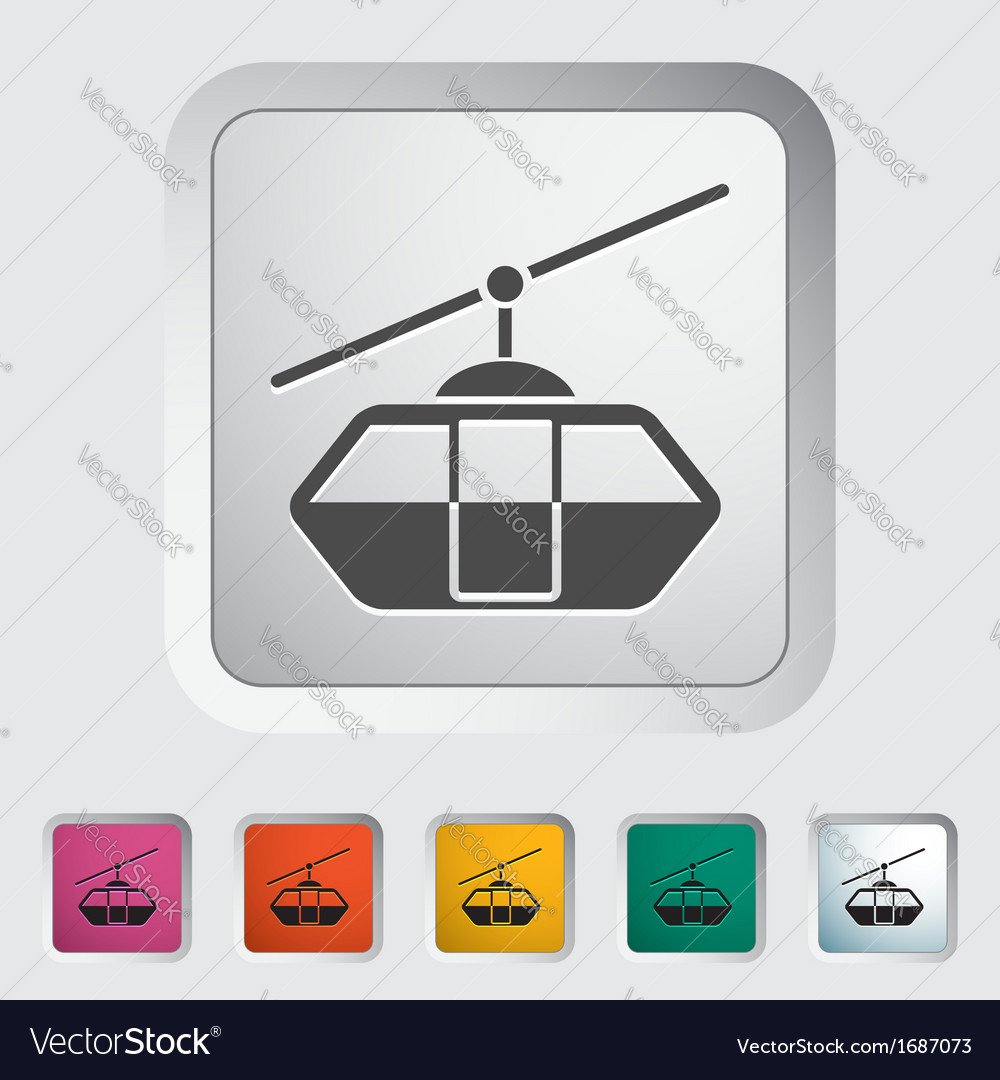 Funicular railway vector | Price: 1 Credit (USD $1)