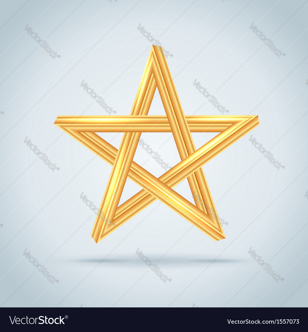 Gold inconceivable pentagram vector | Price: 1 Credit (USD $1)