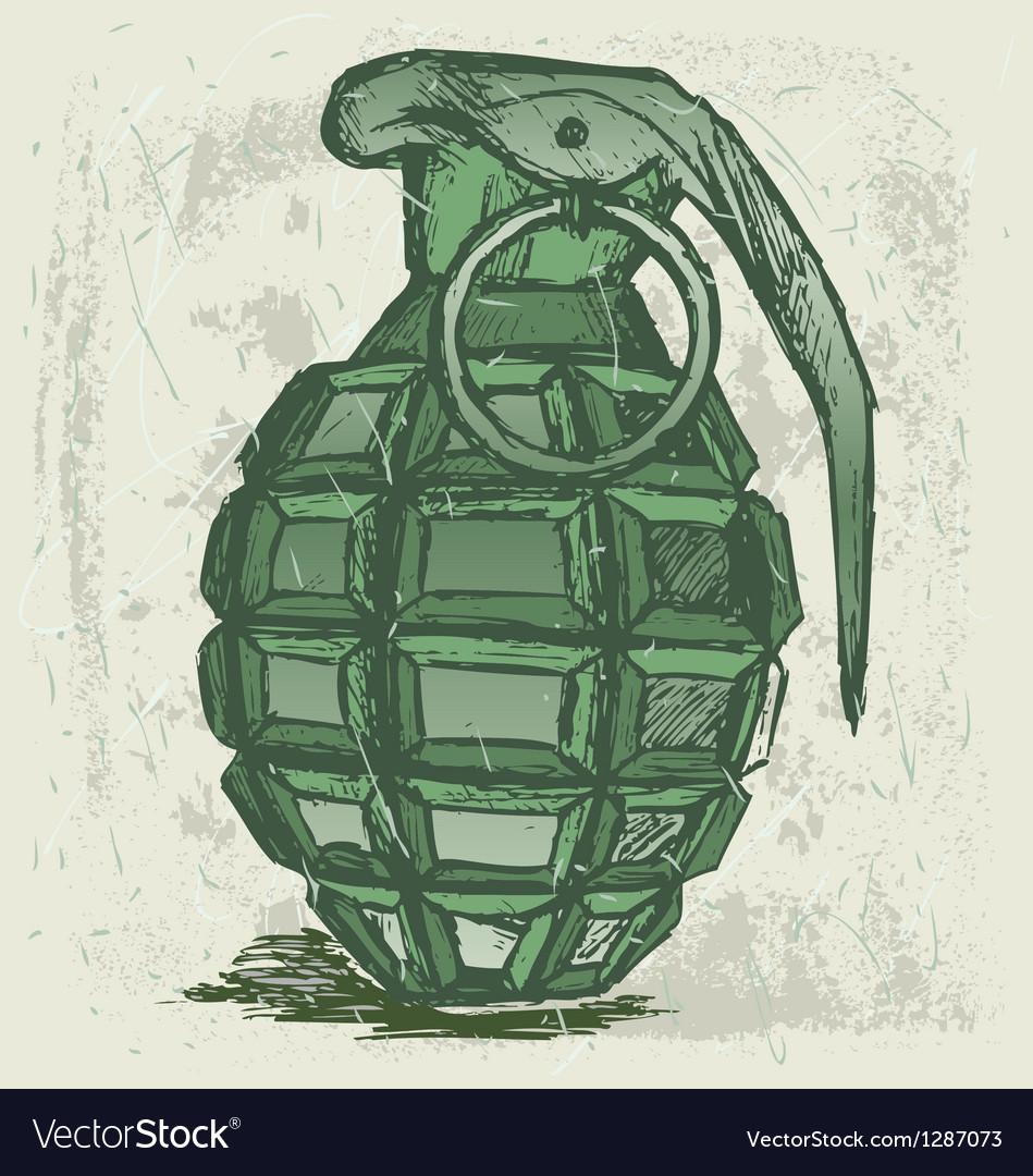 Hand grenade vector   Price: 1 Credit (USD $1)