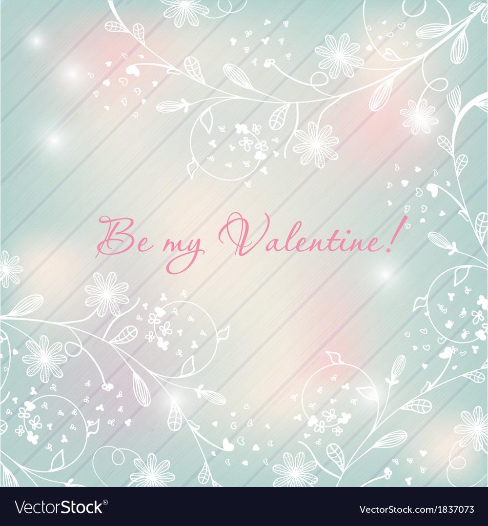 Light pastel floral background valentines design vector | Price: 1 Credit (USD $1)