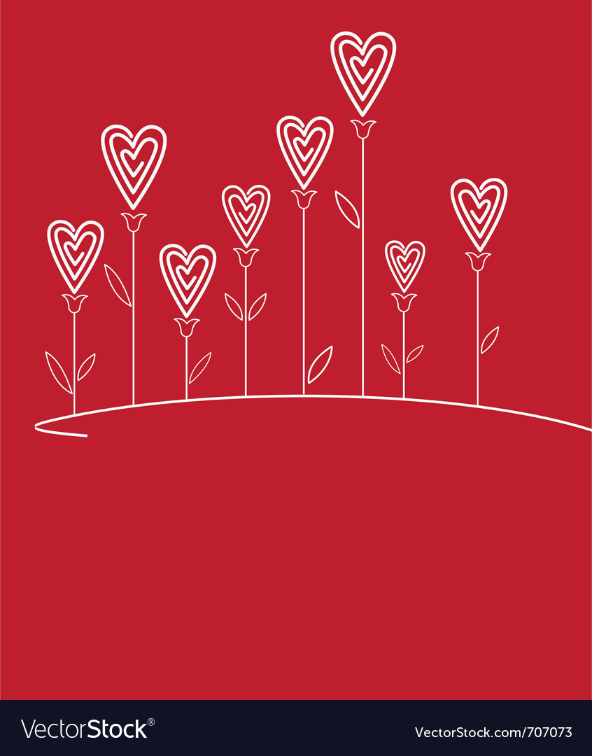 Valentines love flower vector | Price: 1 Credit (USD $1)