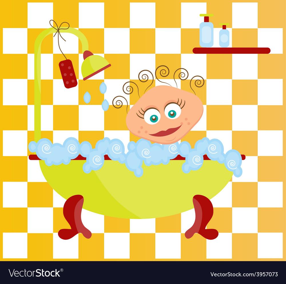 Woman have a bath vector | Price: 1 Credit (USD $1)