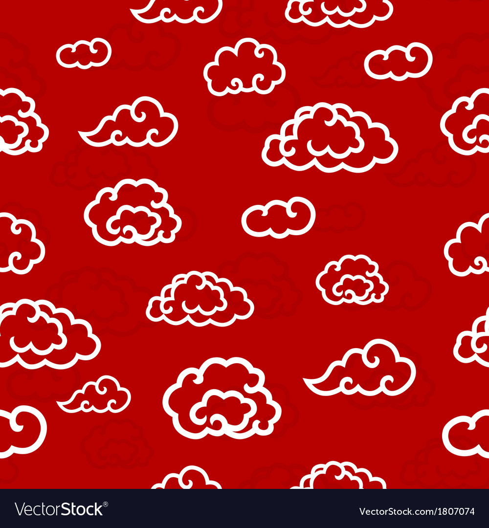 Abstract seamless clouds background vector | Price: 1 Credit (USD $1)