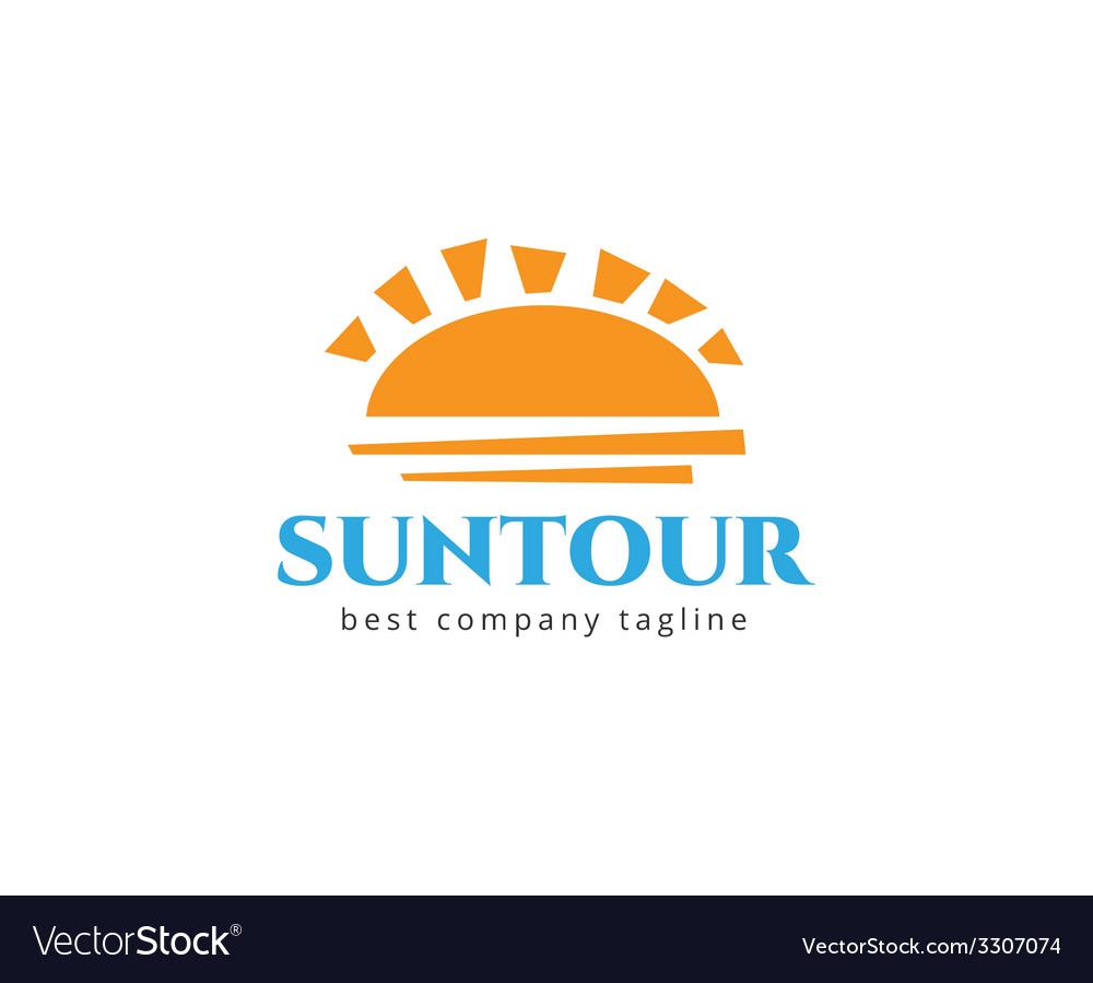 Abstract travel sun logo icon concept logotype vector | Price: 1 Credit (USD $1)