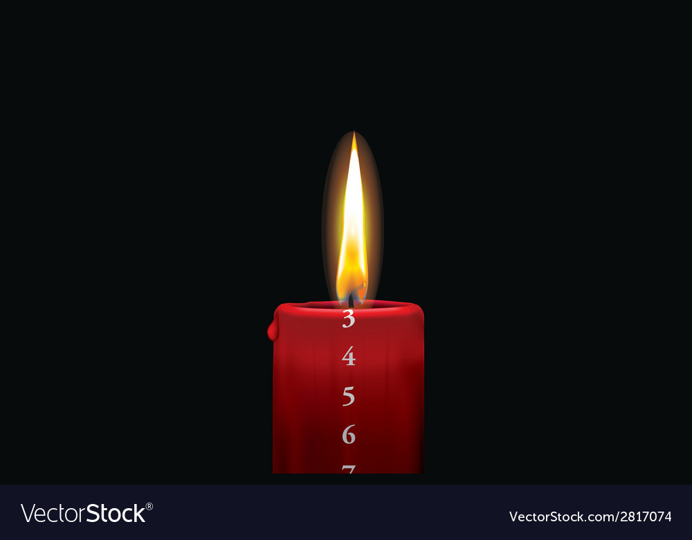 Advent candle red 3 vector | Price: 1 Credit (USD $1)