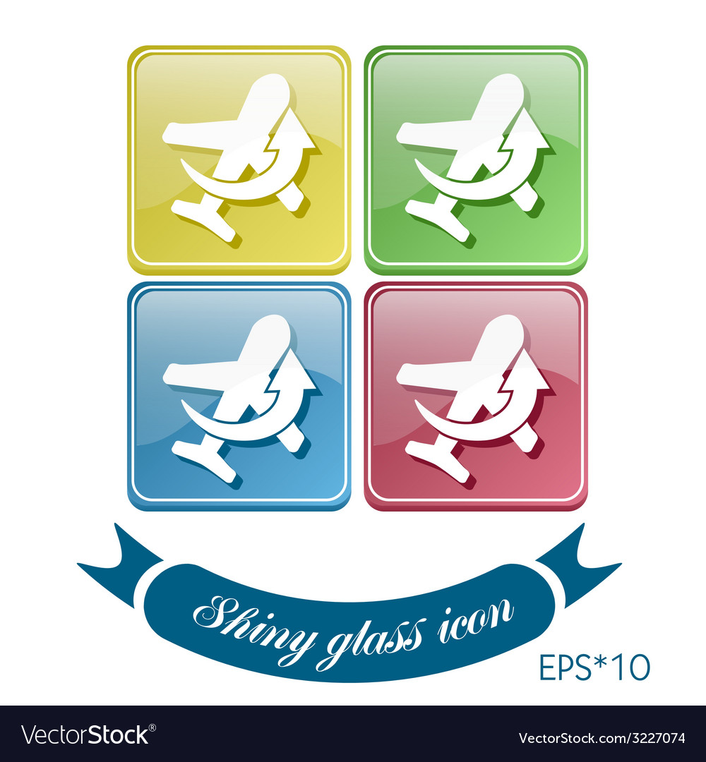 Airplane symbol icon of air travel vector | Price: 1 Credit (USD $1)