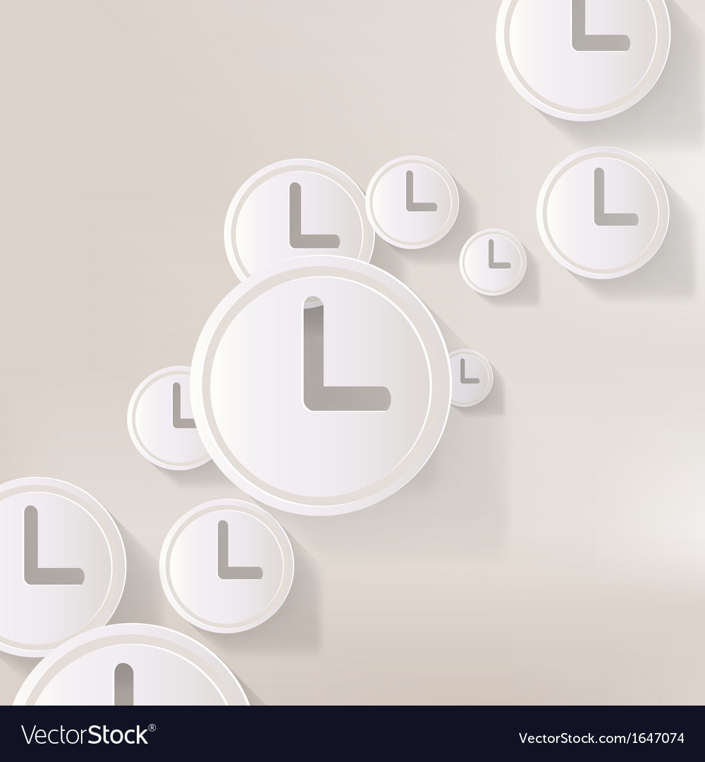 Clock web icon button vector | Price: 1 Credit (USD $1)