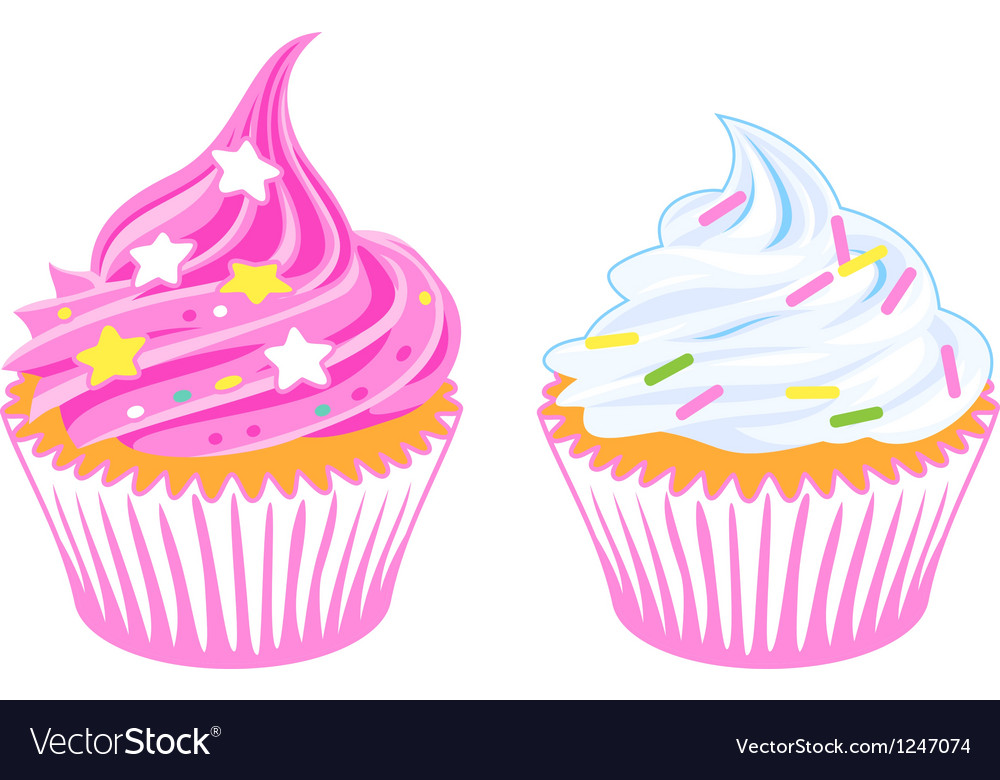 Cupcakes vector | Price: 1 Credit (USD $1)