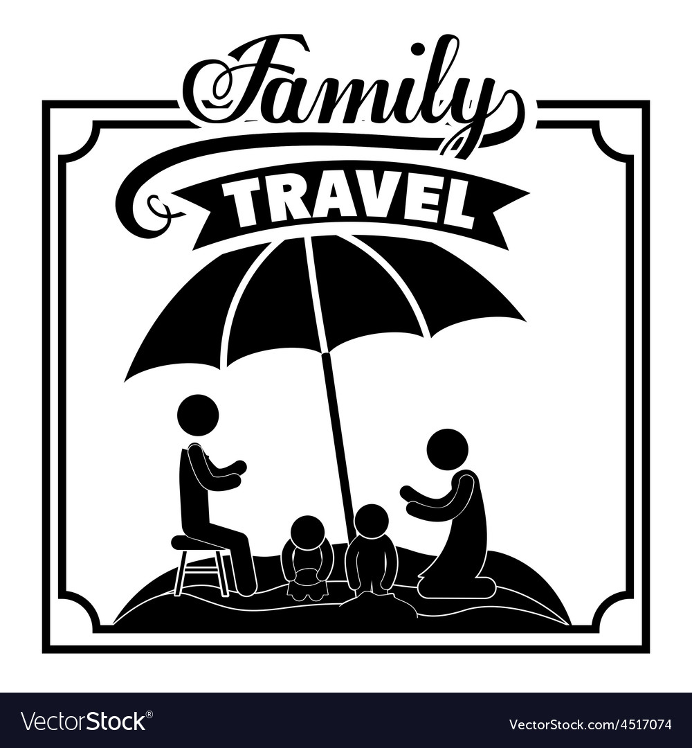 Family travel design vector | Price: 1 Credit (USD $1)