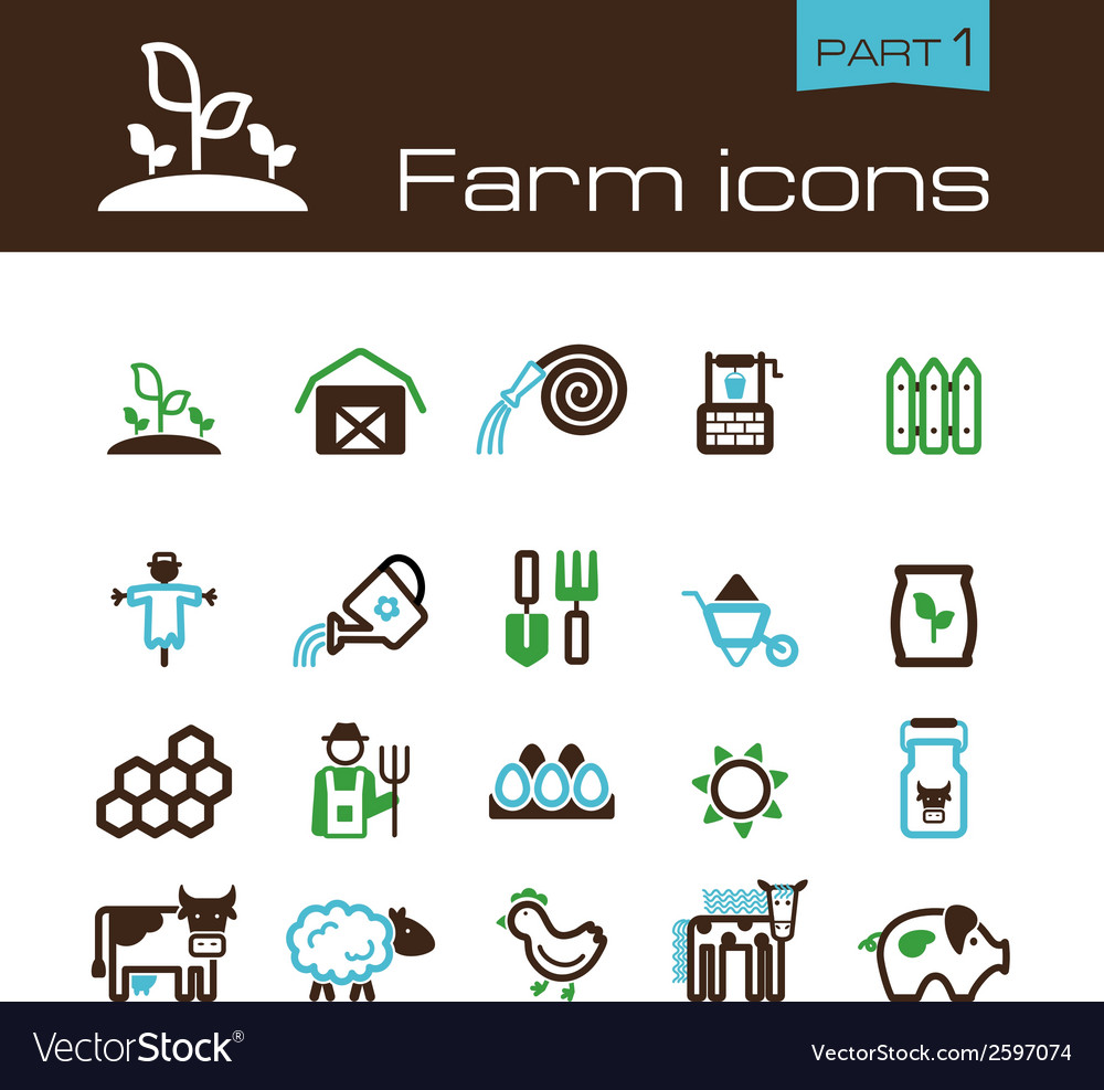 Farm icons part 1 vector | Price: 1 Credit (USD $1)