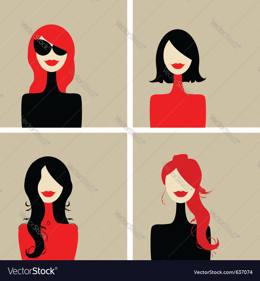 Fashion woman portrait vector | Price: 1 Credit (USD $1)
