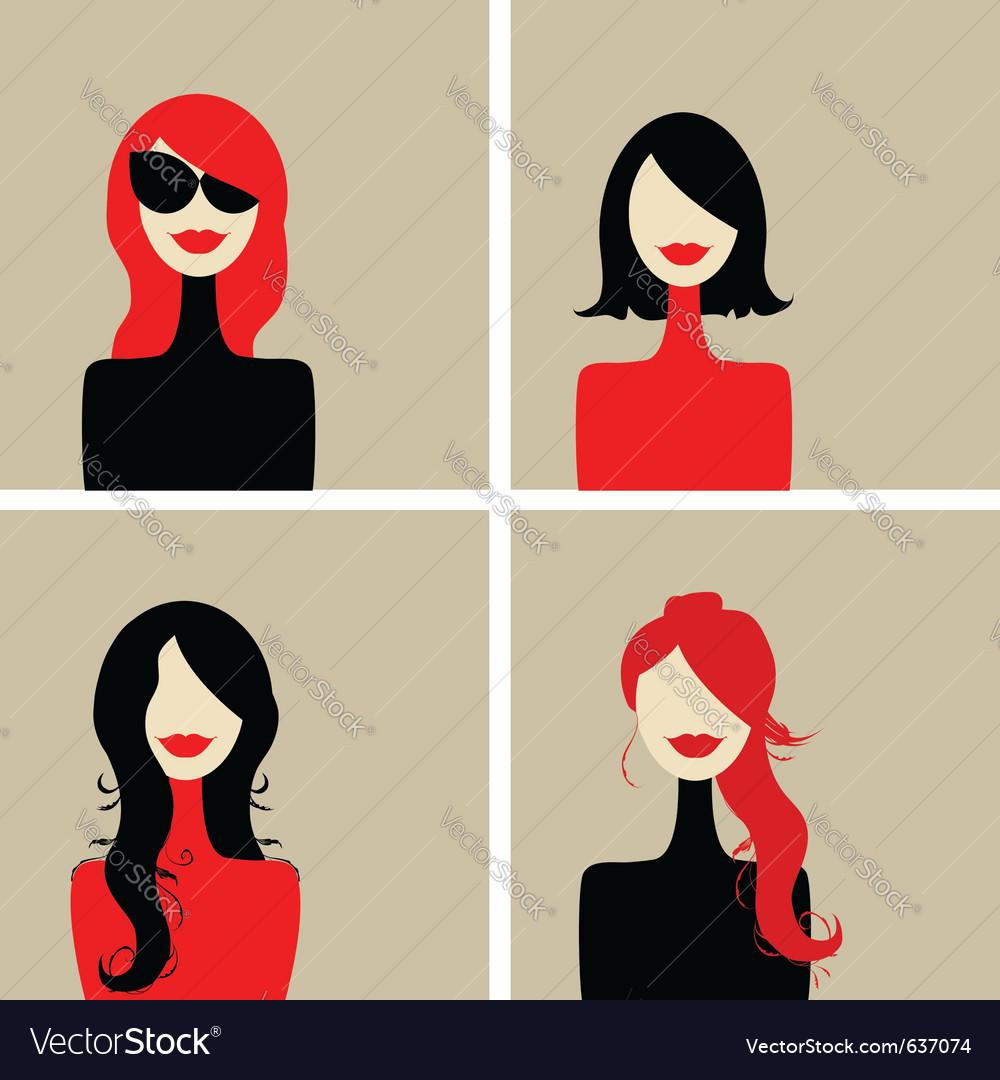 Fashion woman portrait vector | Price: 1 Credit (USD $1)