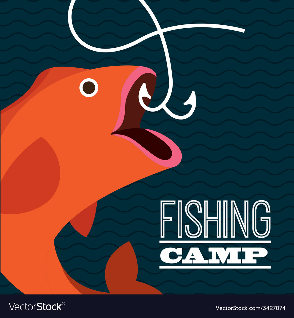 Fishing design vector | Price: 1 Credit (USD $1)