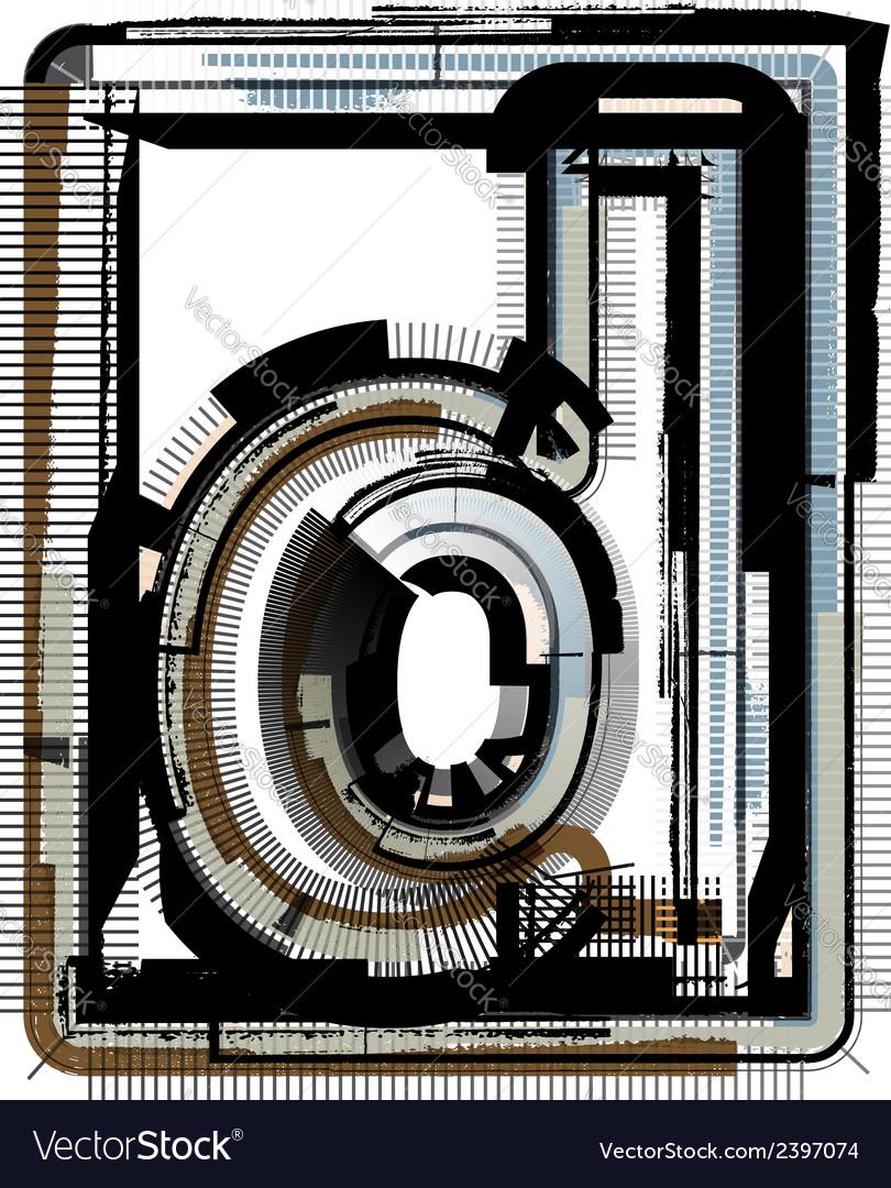 Grunge font letter d vector | Price: 1 Credit (USD $1)