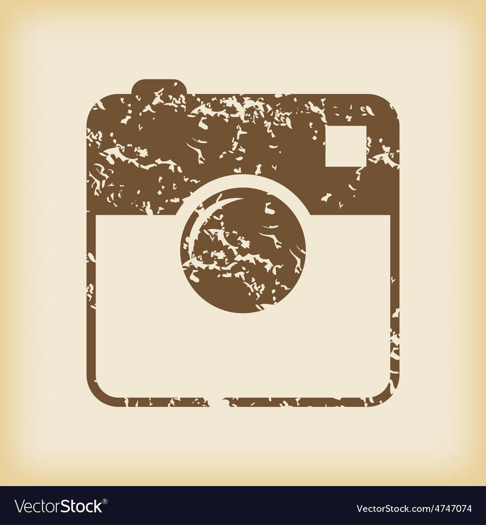 Grungy square samera icon vector | Price: 1 Credit (USD $1)