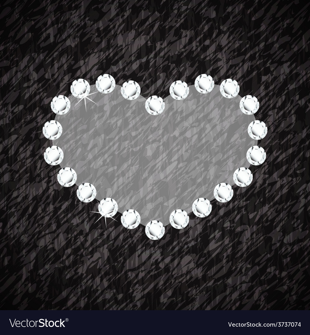 Heart symbol of brilliant diamonds vector   Price: 1 Credit (USD $1)