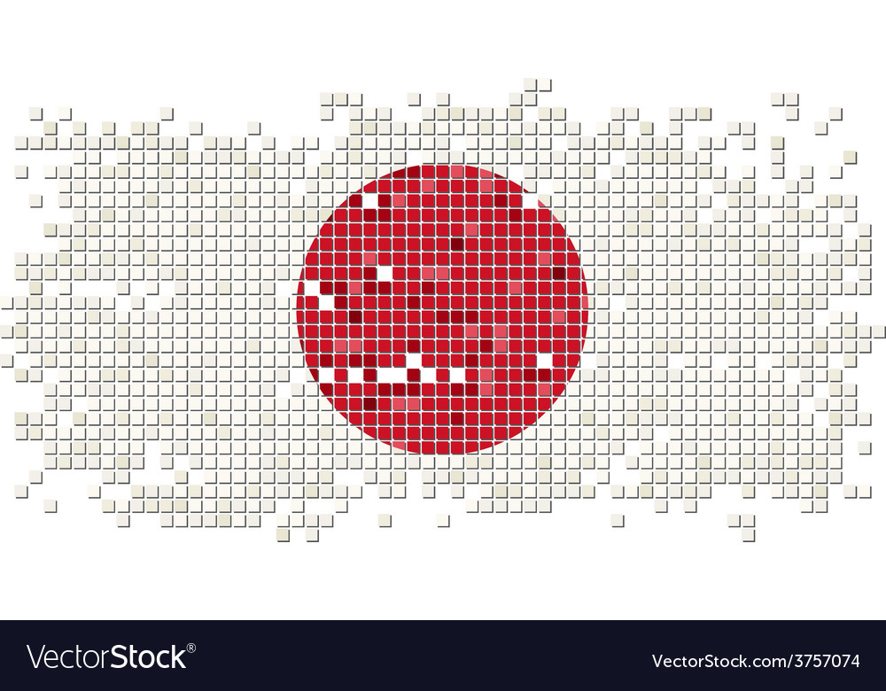 Japanese grunge tile flag vector | Price: 1 Credit (USD $1)