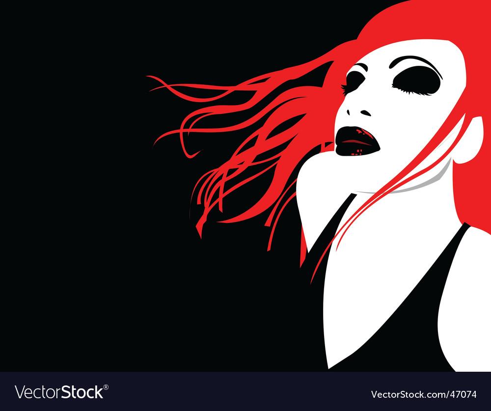 Vampire girl vector | Price: 1 Credit (USD $1)