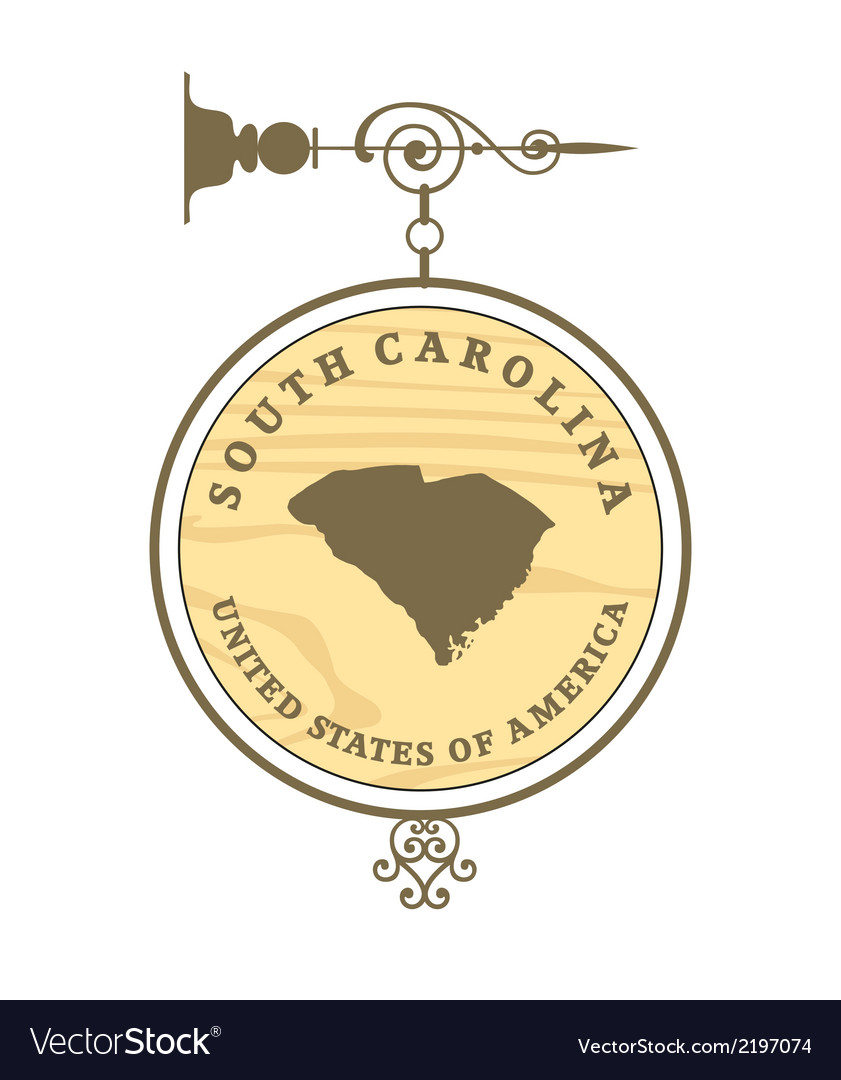 Vintage label south carolina vector | Price: 1 Credit (USD $1)