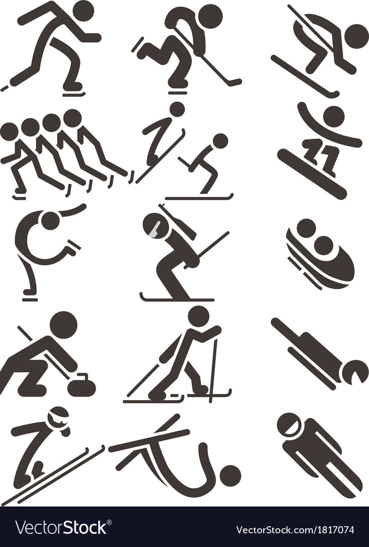 Winter sport icons vector   Price: 1 Credit (USD $1)