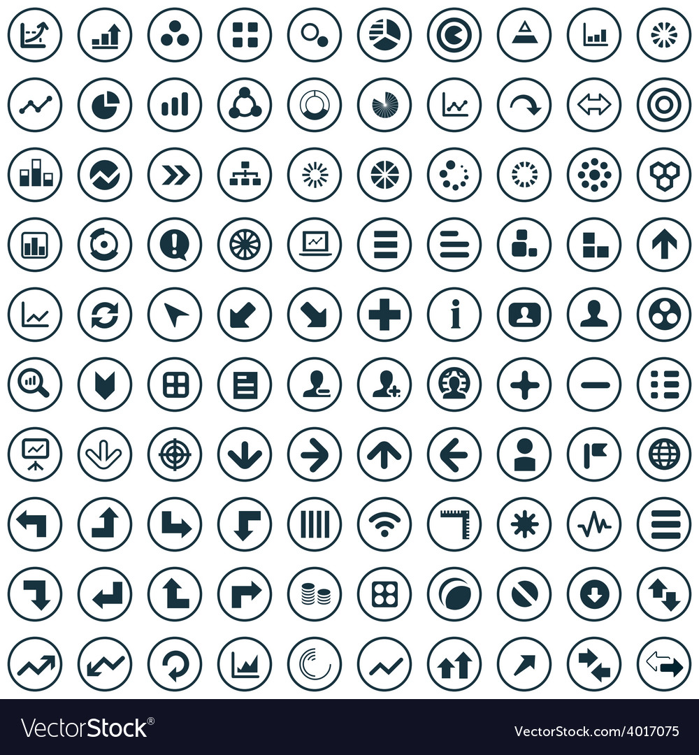 100 diagram icons vector | Price: 1 Credit (USD $1)