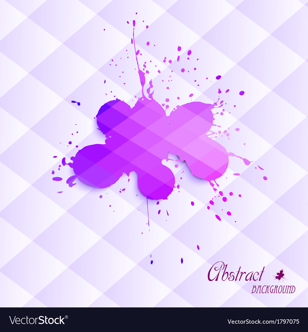 Abstract blot on a triangular background vector | Price: 1 Credit (USD $1)