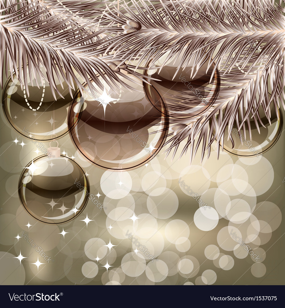 Christmas background with transparent balls vector | Price: 1 Credit (USD $1)
