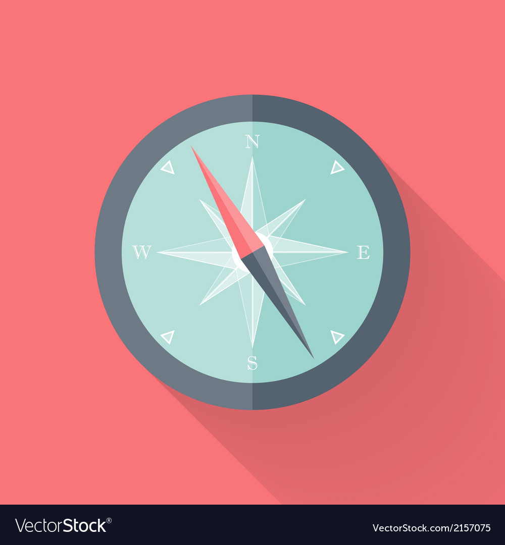 Compass flat icon pink and blue vector | Price: 1 Credit (USD $1)