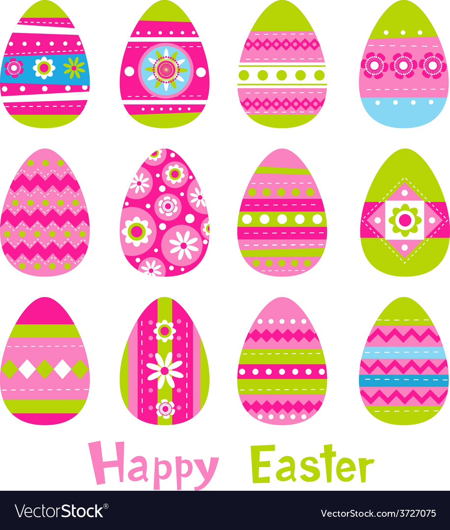 Easter eggs in vector | Price: 1 Credit (USD $1)
