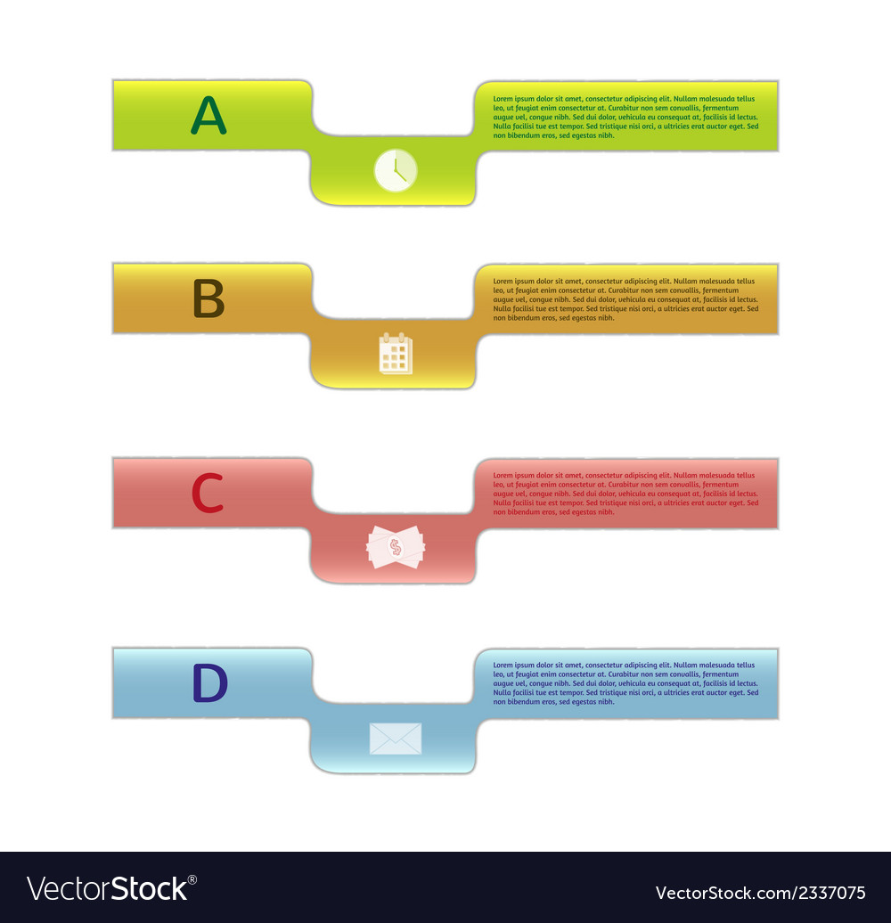 Four labels with informations vector | Price: 1 Credit (USD $1)