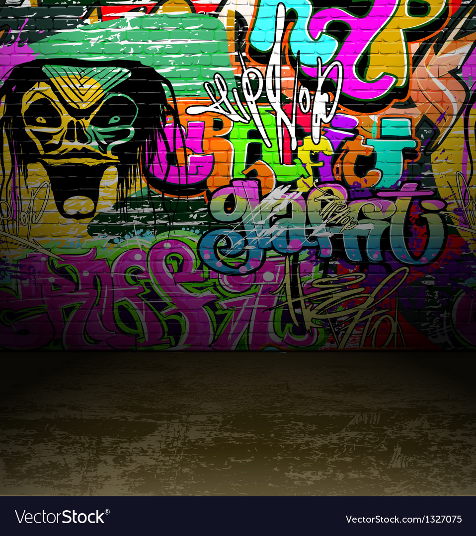 Graffiti wall art background vector | Price: 1 Credit (USD $1)
