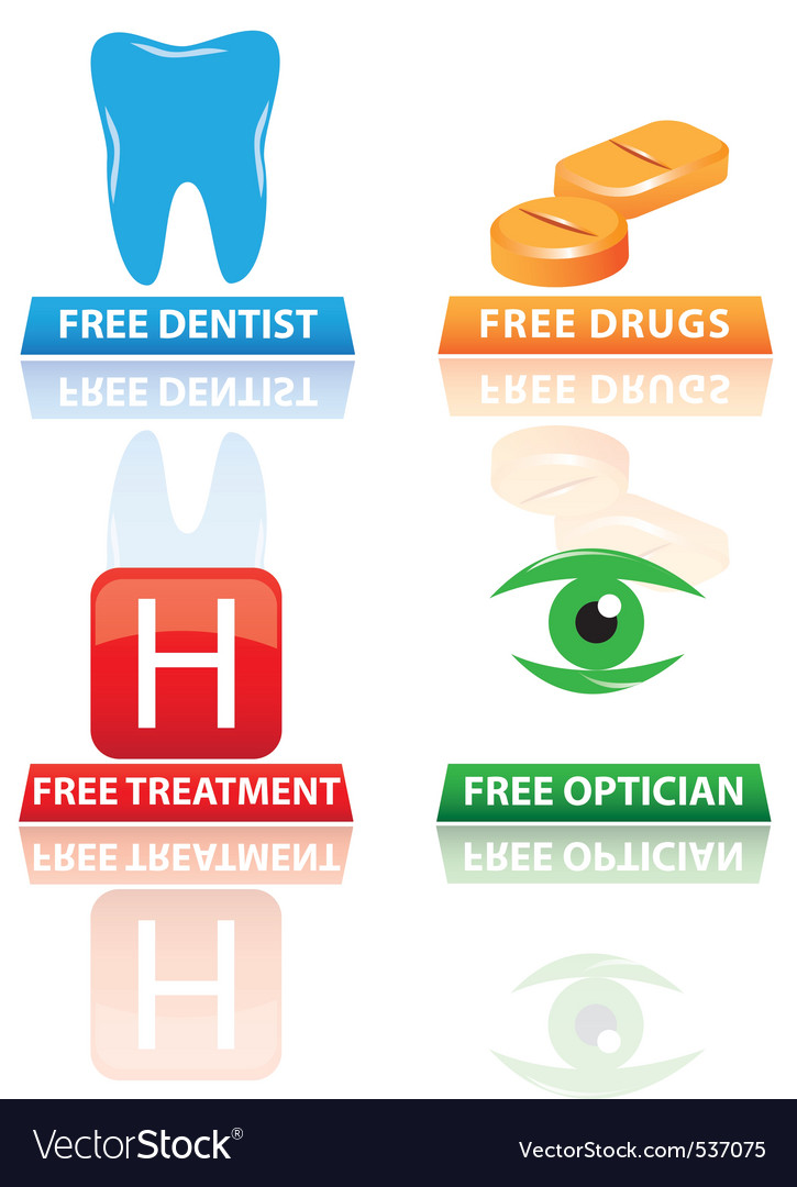 Hospital icons and symbols vector | Price: 1 Credit (USD $1)