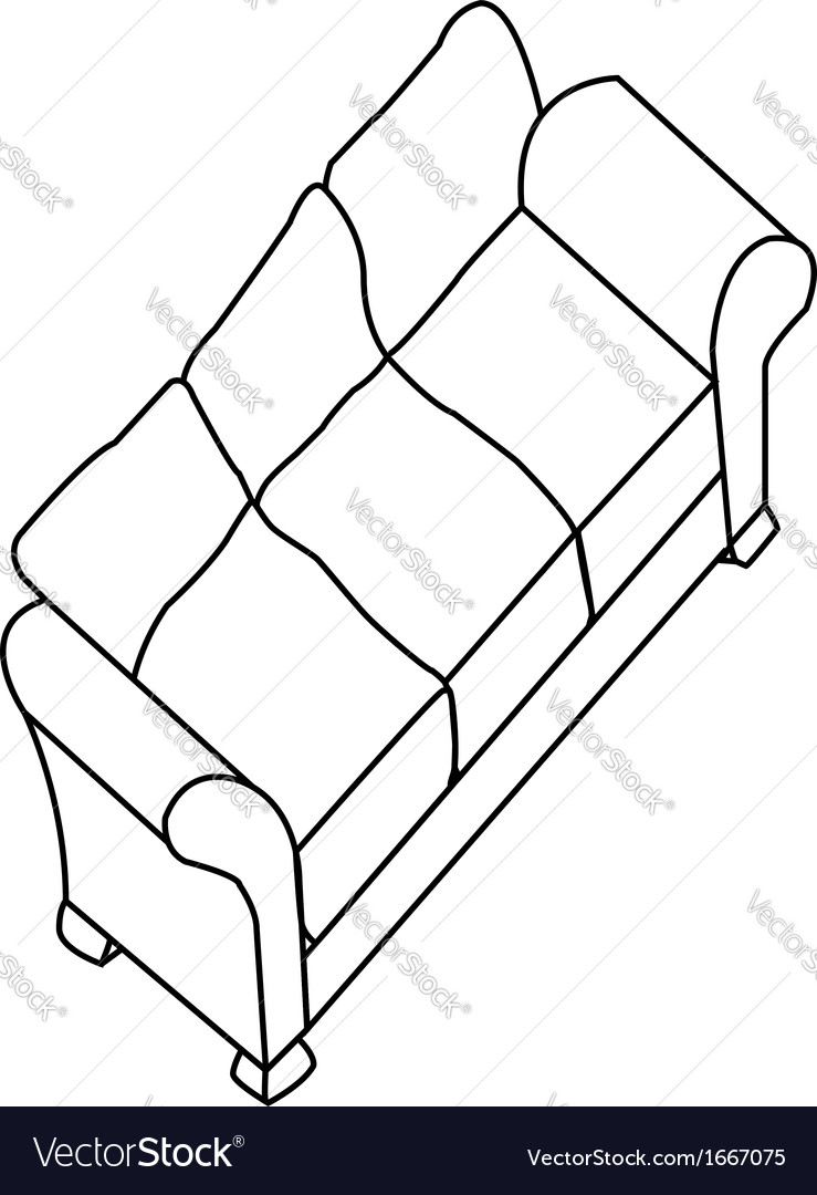 Isolated modern sofa vector | Price: 1 Credit (USD $1)