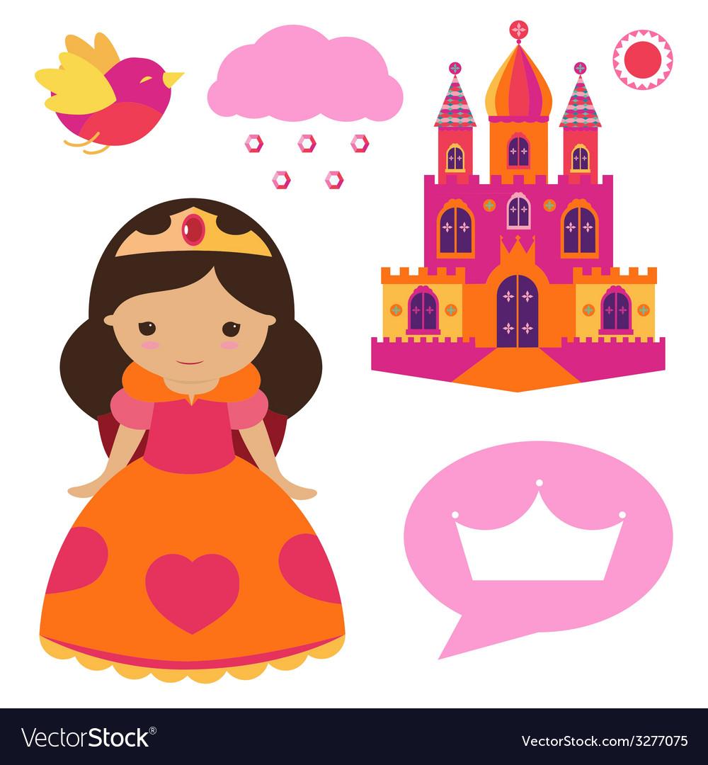 Princess clip art set vector | Price: 1 Credit (USD $1)