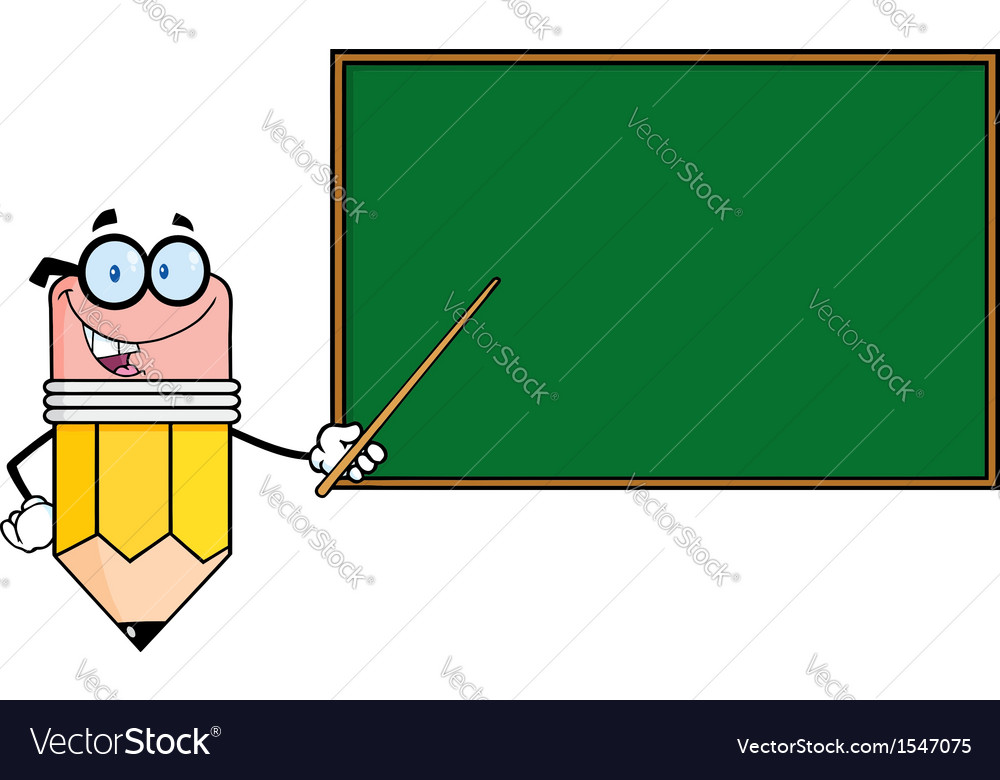 Professor pencil teaching economics vector | Price: 1 Credit (USD $1)