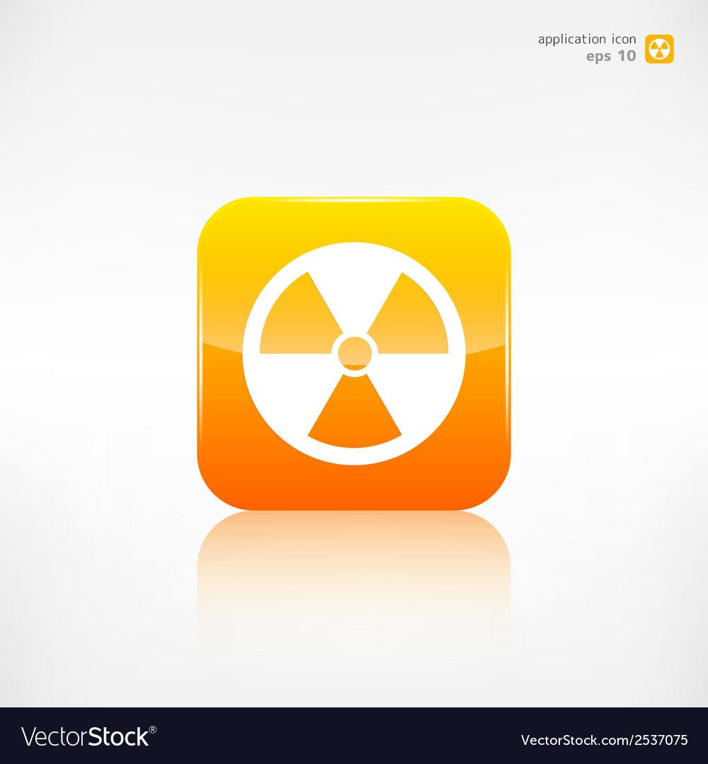 Radiation danger icon vector | Price: 1 Credit (USD $1)