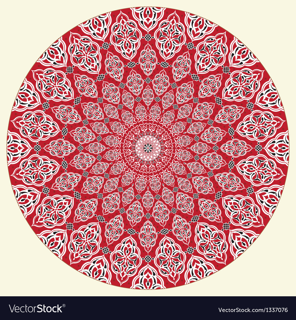 Arabic circular pattern vector | Price: 1 Credit (USD $1)