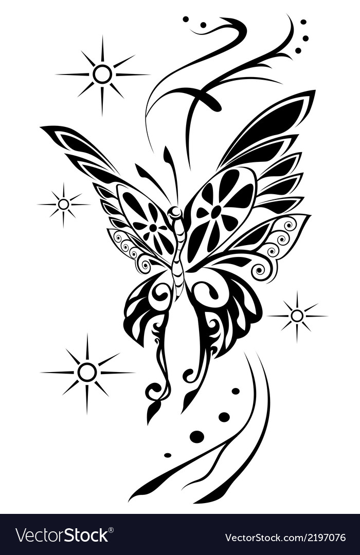 Butterfly tattoov vector | Price: 1 Credit (USD $1)