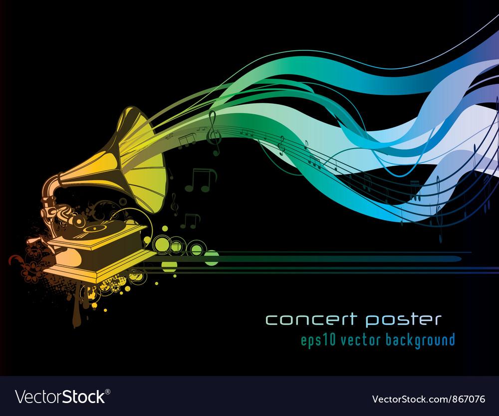Concert poster vector | Price: 1 Credit (USD $1)