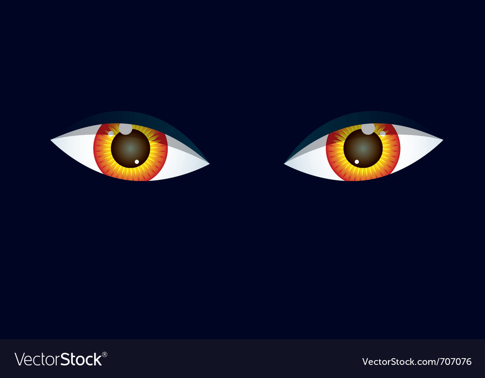 Eyes on black background vector   Price: 1 Credit (USD $1)