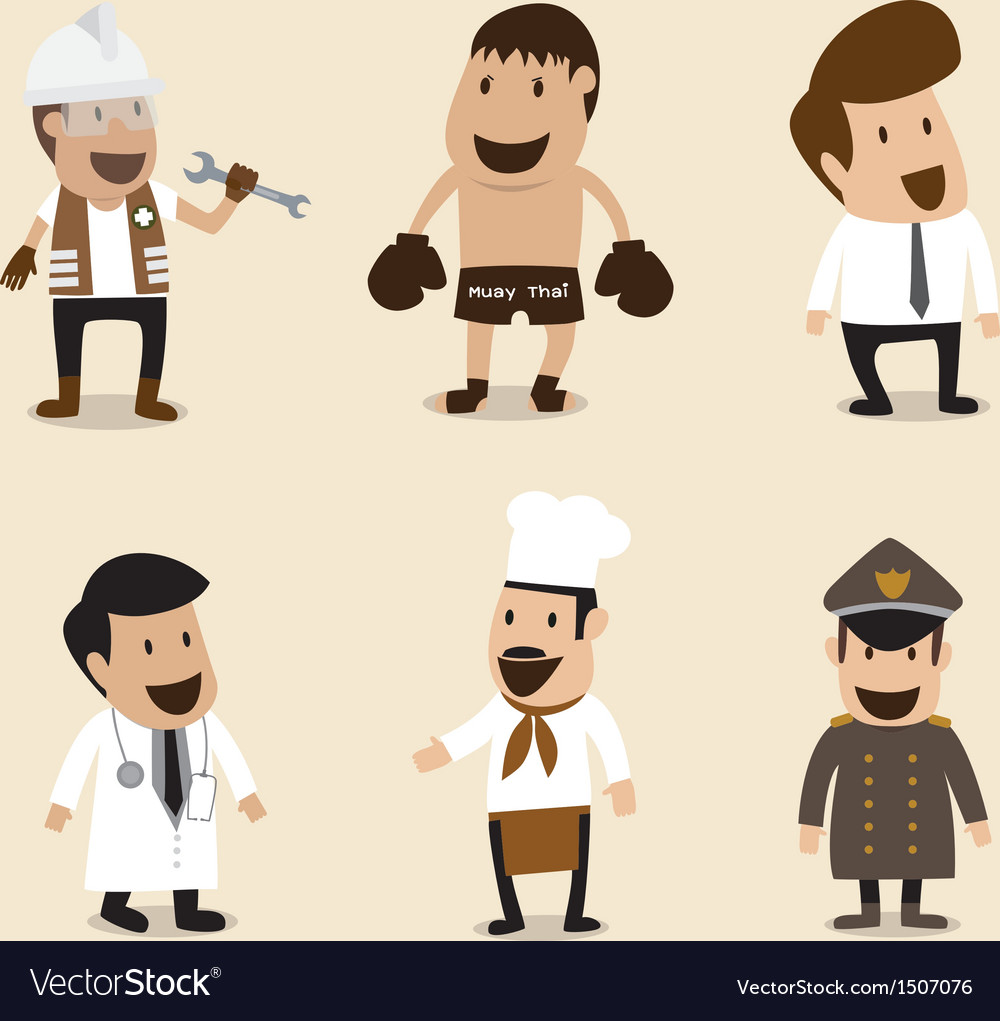 Group of people in different occupation vector | Price: 3 Credit (USD $3)