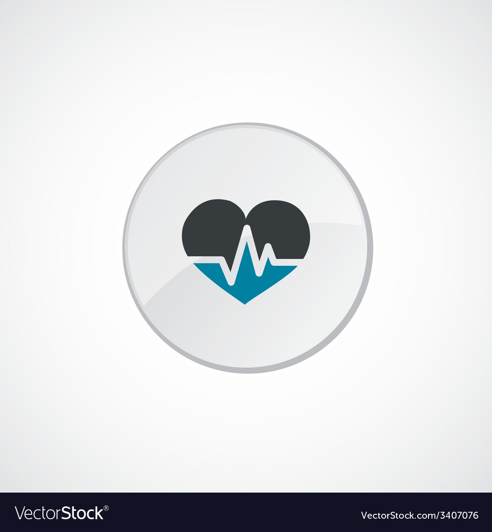Heart pulse icon 2 colored vector | Price: 1 Credit (USD $1)