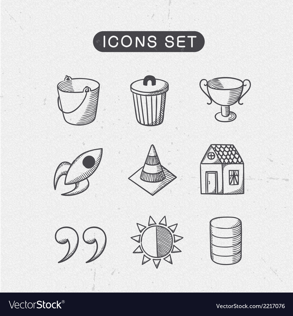 Miscellaneous symbols set vector | Price: 1 Credit (USD $1)