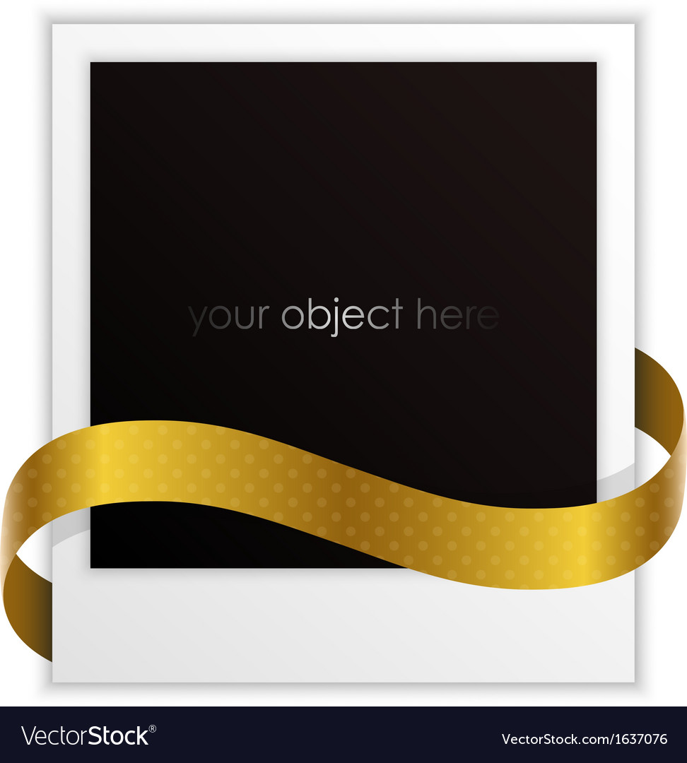 Polaroid ribbon vector | Price: 1 Credit (USD $1)